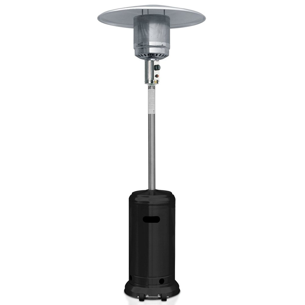 Garden Sun GS4400BK Floor Standing 41,000 BTU Propane Powered Patio Heater With Push Button Ignition, Black