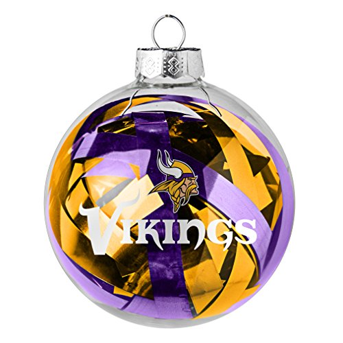NFL Minnesota Vikings Large Tinsel Ball Ornament