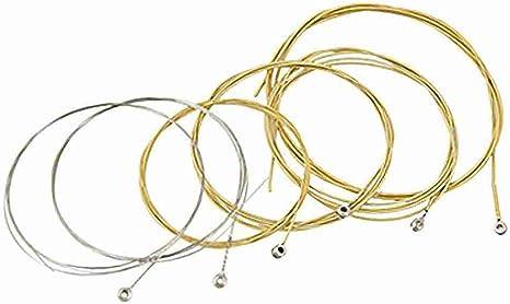 Extra Light Cuerdas de acero 6 piezas para guitarra acústica popular: Amazon.es: Instrumentos musicales