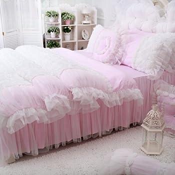 Amazon Com Sisbay Fancy Girls Bedding Set Pink Luxury Princess