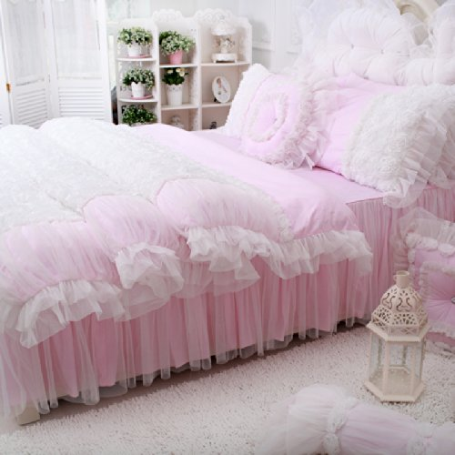 Fadfay Home Textile Beautiful Korean Rose Bedding Sets