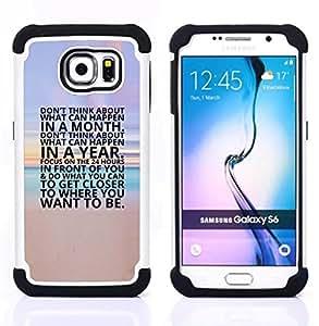 For Samsung Galaxy S6 G9200 - inspiring beach sunset poster text Dual Layer caso de Shell HUELGA Impacto pata de cabra con im????genes gr????ficas Steam - Funny Shop -