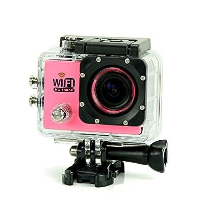 Uniquer Sport DV SJ6000 WiFi 12MP 170 Degree 1080P Digital Waterproof Helmet Sports Action Car Camera Pink