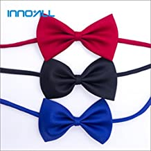 INNO+ALL, Adjustable Bow Ties for Dogs/Cats/Pets/Small animals (Black / Blue / Red)
