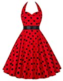 Search : GRACE KARIN Women's Halter 1950s Vintage Wiggle Dress For Party Cocktail