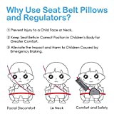 ilyever 2 Pack Kids Car Seatbelt Cover Adjustable