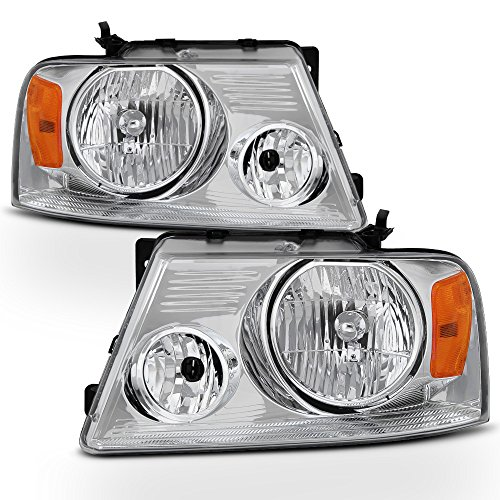 ACANII - For 2004-2008 Ford F-150 F150 Pickup Headlights Headlamps Driver + Passenger Side Pair 2005 2006