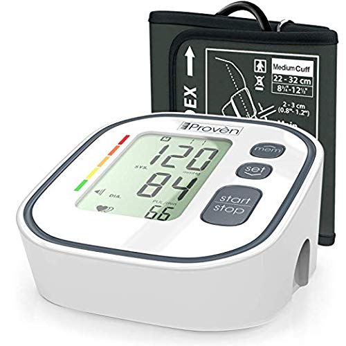 Home Blood Pressure Monitor – Approved for Upper Arm Use – Digital Blood Pressure Machine – Accurate Blood Pressure Cuff Standard Size – BP Cuff – BP Monitor Arm – Recommended by iProvèn