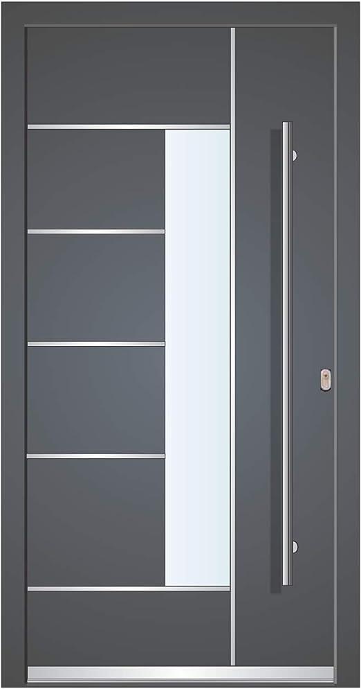 Haust/ür Welthaus WH75 Standard Aluminium mit Kunststoff NY2010 Amsterdam T/ür 1000x2000mm DIN Rechts Farbe aussen anthrazit Innen wei/ß au/ßengriff BGR1400 innendrucker M45 Zylinder 5 Schl/ü/ßel