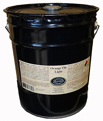 - River City Soap-Orange Oil Light d'Limonene Microemulsion Degreaser and Adhesive Remover-5 Gallon-Direct from the Manufacturer-No Middle Man