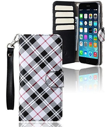 monsoon-roma-wallet-case-cover-for-apple-iphone-6-plus-6s-plus-55-plaid-black