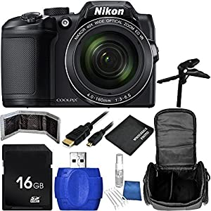 Nikon COOLPIX B500 Digital Camera (Black) Bundle with Accessory Kit (10 Items)