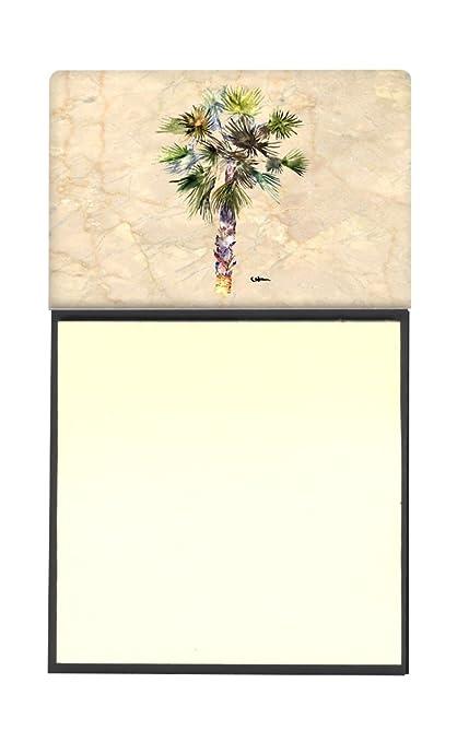 Caroline tesoros del 8481SN Palm Árbol rellenable titular o de notas adhesivas dispensador de Postit Note