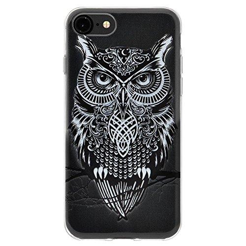 """Amzer """"Graphic Eule"""" Soft Gel Klar TPU Skin Case für Apple iPhone 6/6S"""