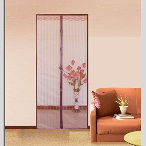 Magnetic Screen doors for homes,Screen doors with magnets Velcro magnetic screen door mesh The mosquito Door curtain Magnetic stripe closure summer Bedroom-A 70x200cm(28x79inch)