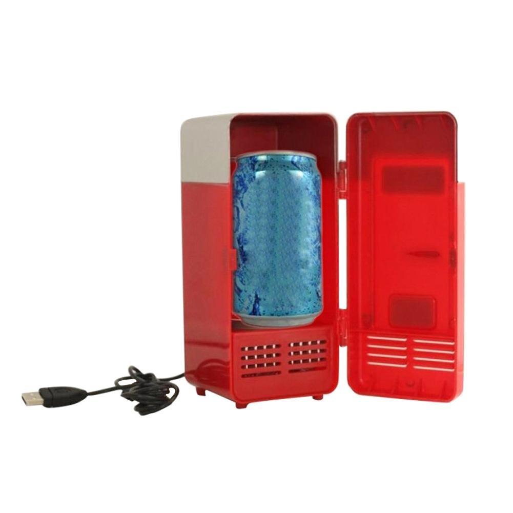 Sundlight USB Fridge, 5V USB Power Operated Portable Mini Beverage Cooler Fridge Cooler Electronic Medicine Use for Car,Office,Home