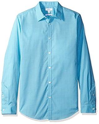 Calvin Klein Men's Slim Fit Infinite Cool Check Button Down Shirt