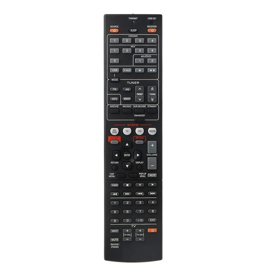 XIAOSHA Replacement remote control for YA-MAHA RAV463, universal for next generation amplifiers, 1 piece