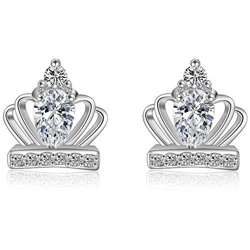 Studs women_earrings women_ Earrings princess_ earrings crown_ Crystal earrings