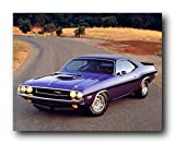 Wall Decor 1970 Dodge Hemi Challenger Hot Rod Vintage Muscle Car Art Print Poster (16x20)
