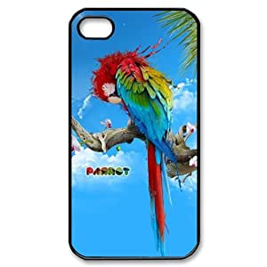 Animals - Parrot theme pattern design For Apple iPhone 4,4S Phone Case