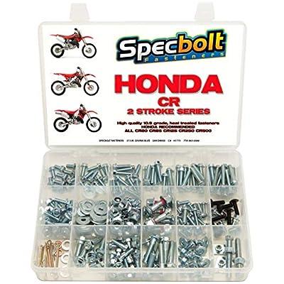 250pc Specbolt Honda CR Two Stroke Bolt Kit for Maintenance & Restoration of MX Dirtbike OEM Spec Fastener CR80 CR85 CR125 CR250 CR500: Industrial & Scientific