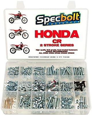 Honda CR Two Stroke Bolt Kit for Maintenance /& Restoration of MX Dirtbike OEM Spec Fastener CR80 CR85 CR125 CR250 CR500 120pc Specbolt Fasteners Brand Bolt Kit fits