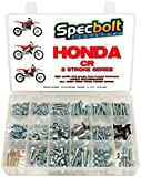 Specbolt Fasteners 250pc Maintenance Restoration OE Spec Motorcycle Bolt Kit for Honda CR 2 Stroke MX Dirtbike CR80 CR85 CR125 CR250 CR500