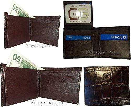 Leather Skin Bifold Men's BN Crocodile Billfolds Wallet Wallet Genuine Printed 2 SSXPx