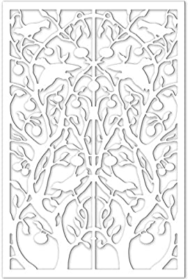 Acurio Lattice Tree of Life Outdoor Decor Panel Screen