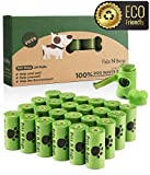 Dog Poop Bags, Pets N Bags Earth Friendly Dog Waste Bags, Refill Rolls (24 Rolls / 360 Count, Unscented) Includes Dispenser by Pets N Bags