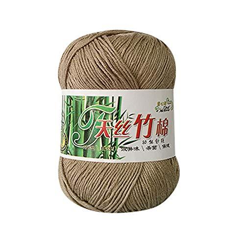 Clearance Sale! Yarns for Knitting Crochet Craft,KFSO Hand Knitting Knicker Bamboo Cotton Yarn Crochet Soft Scarf Sweater Hat Yarn Knitwear Wool (E)