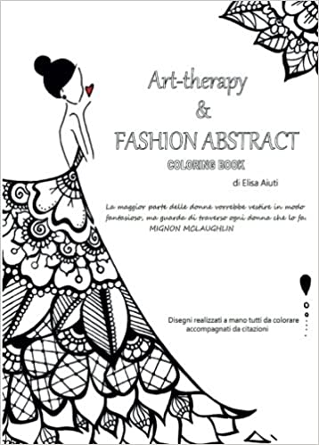 Amazon.com: Art-Therapy & Fashion Abstract, Coloring Book (Italian ...