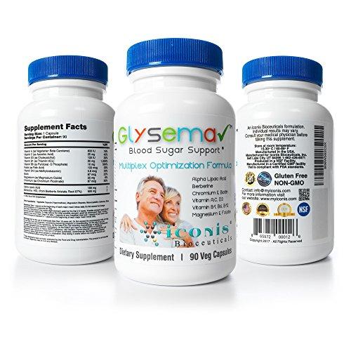Iconis Bioceuticals-Glysema, Blood Sugar Support, Berberine, Alpha Lipoic Acid,Chromium, Biotin, Thiamine