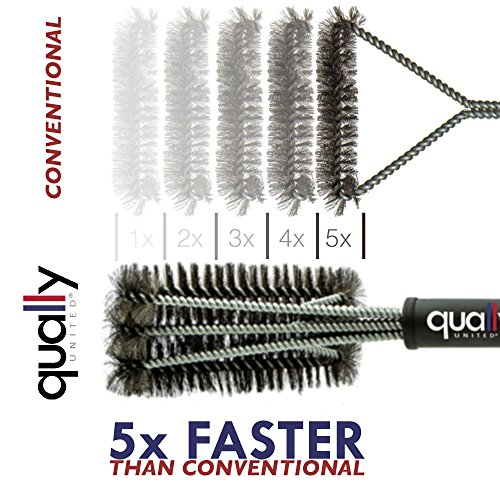 Qually-United-a-Must-Have-18-Best-BBQ-Grill-Brush-3-in-1-Durable-and-Effective-Barbecue-Grill-Brush-Bristles-are-Made-of-Stainless-Steel-Woven-Wire-a-Perfect-Gift-for-All-Barbecue-Lovers