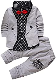 Sumen Baby Set Boy Gentry Formal Party Christening Wedding Tuxedo Bow Suit