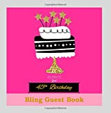 45th Birthday Decorations in All Departments: Bling GUEST BOOK Classy Silver Inside Foil Fleur de Lis End Pages 45th Birthday Decorations in Party ... (45th Birthday Guest Book) (Volume 1)