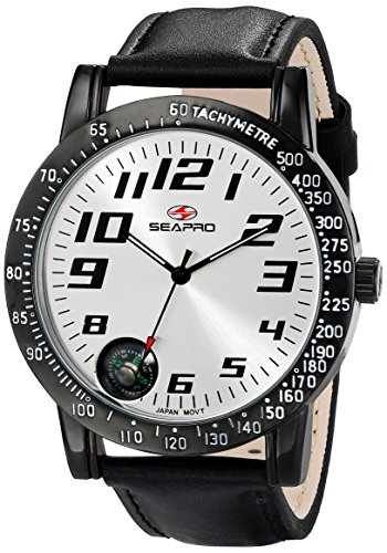 Seapro Men's SP5110 Raceway Analog Display Quartz Black ()