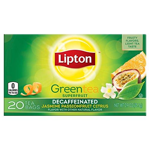 Lipton Green Tea, Decaffeinated Jasmine Passionfruit with Citrus 20 ct