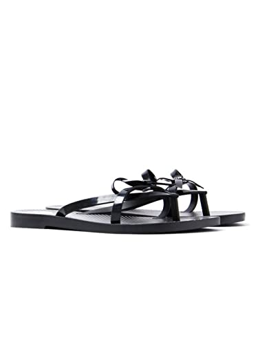 8c8ab2fae4f023 Zaxy Womens Black Fresh Bow Flip Flops-UK 4  Amazon.co.uk  Shoes   Bags