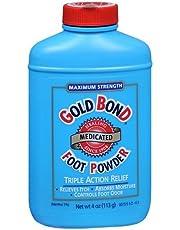 Gold Bond Foot Powder Medicated Maximum Strength, 4.0 OZ (6 Pack)