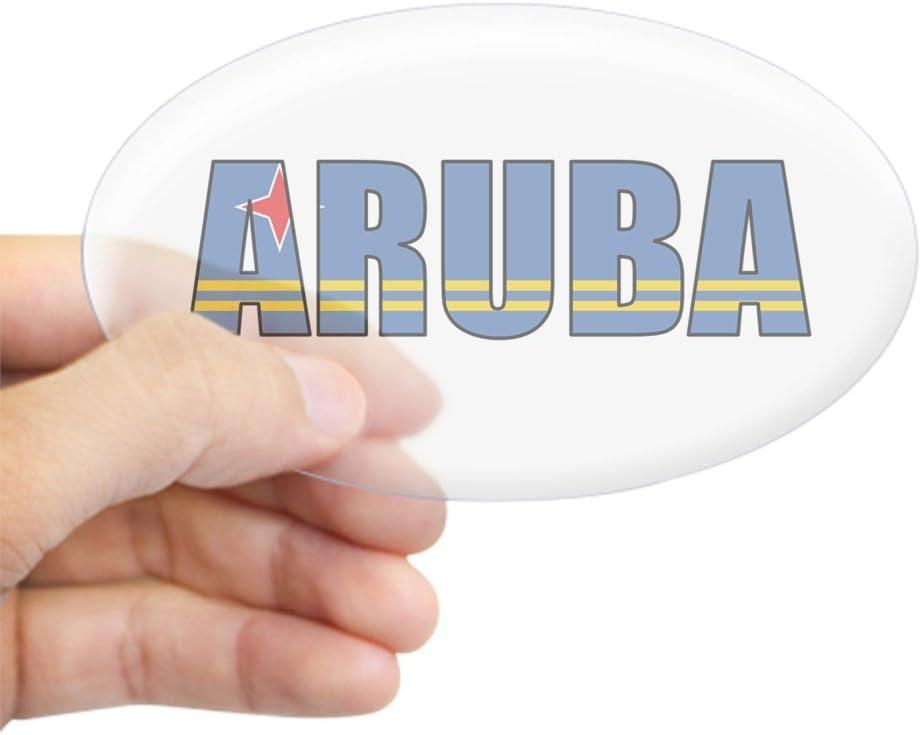 571020018 CafePress ARUBA Oval Bumper Sticker Euro Oval Car Decal