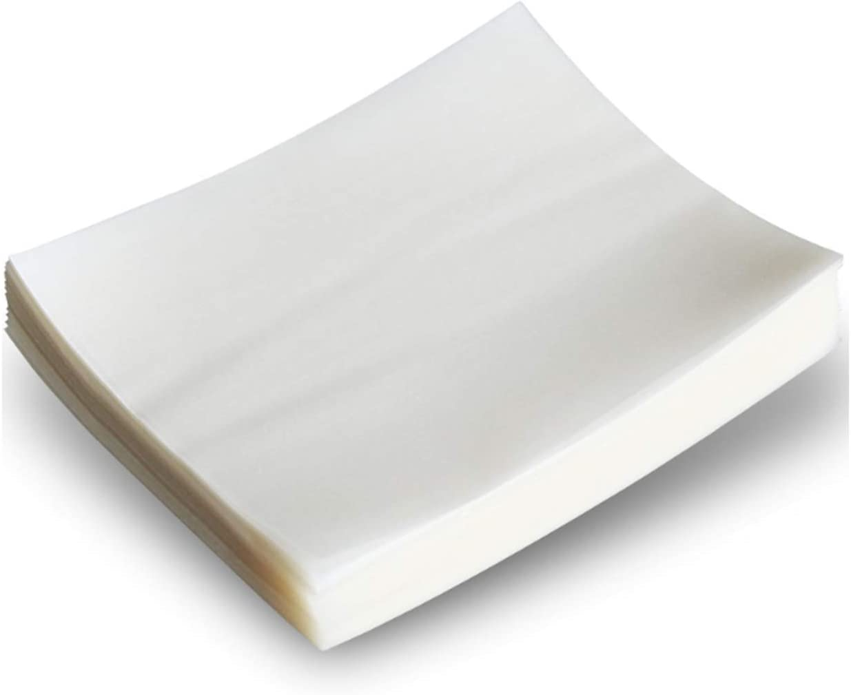 500 Sheets Candy transfer paper/Edible Rice Paper- Glutinous Rice Paperand Chocolate Making/Candy Cake DIY Edible Paper 3.15 × 4.53inches (8 × 11.5 cm)