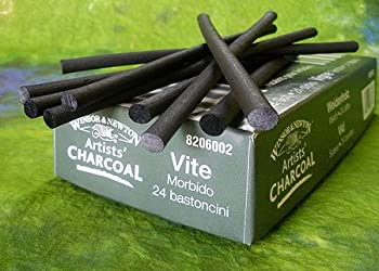 Winsor & Newton Vine Charcoal- Box Of 24 Soft Sticks 1