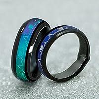 Fashion Titanium Steel Mood Rings Temperature Emotion Feeling Engagement Rings (7)