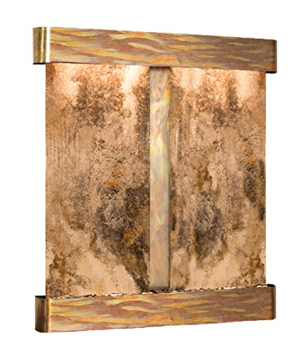 - Cottonwood Falls Water Feature with Rustic Copper Trim and Square Edges (Magnifico Travertine)