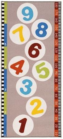 Ikea Teppich Hopplek Kurzflor Motiv Zahlen Rutschfest Durch Latexbeschichtung Bunt Maschinenwaschbar Amazon De Küche Haushalt