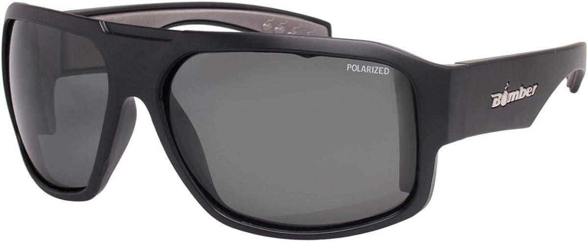 Bomber Floating Eyewear Mega Bomb Polarized Sunglasses Matte Black Smoke