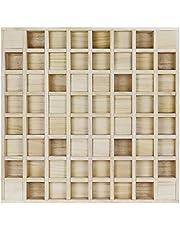 BXI - Difusor de sonido – 61 x 61 x 7,9 cm, paneles difusores acústicos de madera reducen el eco distinto de la vida de la habitación – Difusor de residuos cuadrático para tratamiento acústico de pared y techo (2D)