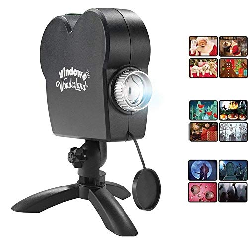 Window Projector 12 Movie Programs Projection Lights Christmas Outdoor Garden Decoration Turn Your Windows Into A Festive Movie Screen -